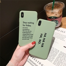 Tfshining Simple Funny Letter Phone Cases For iPhone X XS Max XR  6 6S 7 8 Plus Matte Soft Silicone TPU Protective Back Cover