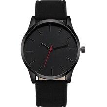 цена Fashion Large Dial Military Quartz Men Watch Leather Business Casual Sport Watches Male Clock Wristwatch Reloj Relogio Masculino онлайн в 2017 году