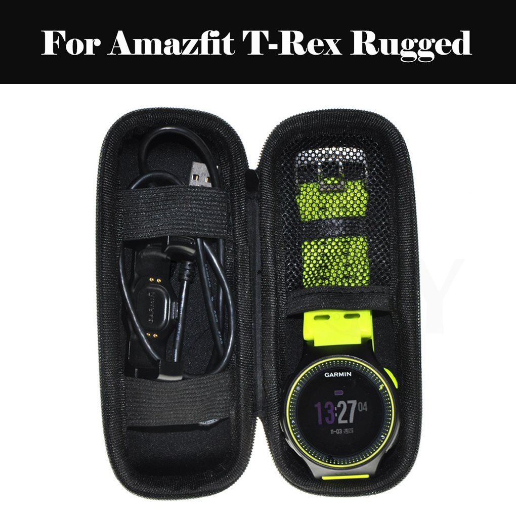 Portable EVA Storage Bag Cover Cases Protective Shell Accessories Travel Hard EVA Smartwatch Case For Amazfit T-Rex Rugged