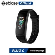 Zeblaze ปลั๊ก C ต่อเนื่อง Heart Rate สายรัดข้อมือสมาร์ทเสมอ สีจอแสดงผลแบตเตอรี่ Life & Quick ชาร์จ IP67 สายรัดข้อมือ