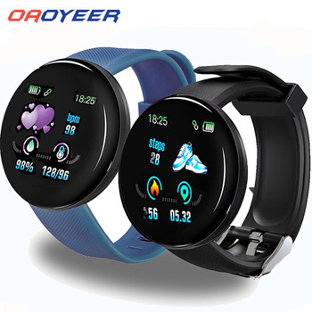 D18 Bluetooth Smart Watch Men Women Blood Pressure Smartwatch Sport Tracker Pedometer 116 Plus Smart