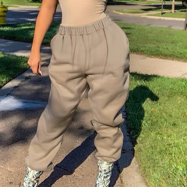 Rockmore Harajuku Joggers Wide Leg SweatPants Women Trousers Plus Size High Waist Pants Streetwear Korean Casual Pant Femme Fall 2