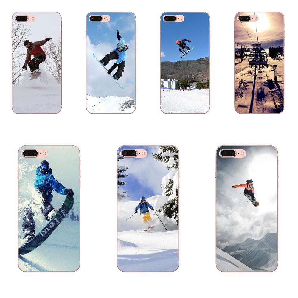 For Samsung Galaxy A71 Note 10 Plus A51 Case A50 A 71 A 51 Soft TPU Cases Skin Snow Or Die Ski Snowboard Sport Print
