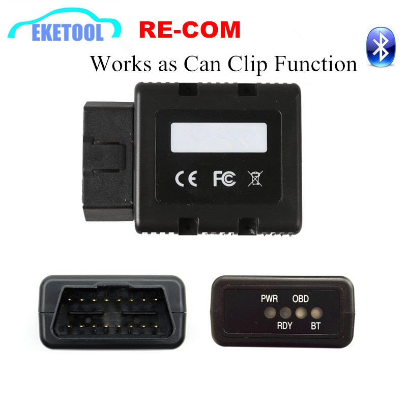 Re COM Bluetooth Interface For Renault OBD Diagnostic&Programming Multi-Language RE-COM Replace Can Clip Same Function