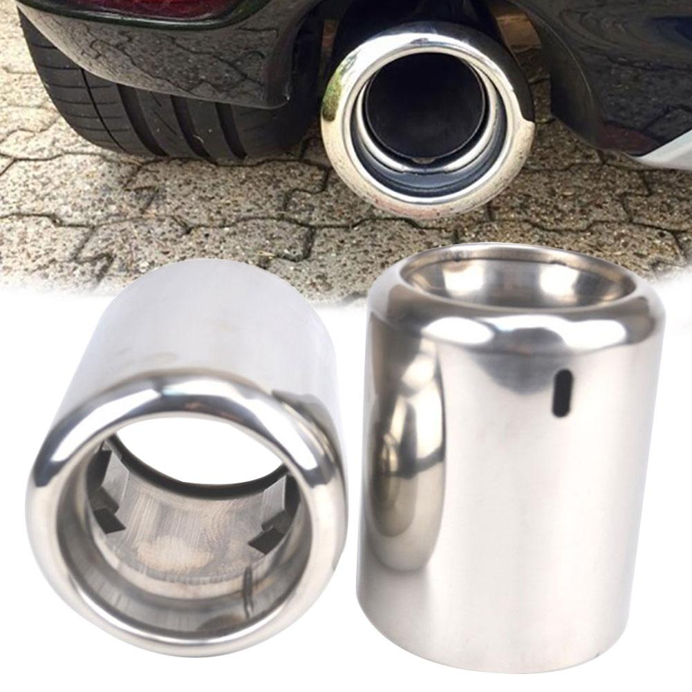 Universal Car Vehicle Car Exhaust Tail Pipes Glossy Stainless Steel Exhaust Tube Tailpipe Muffler Tip Tail For Mazda 6 CX-5