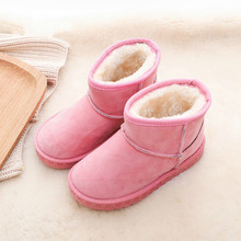 Winter Boots Kids Anti Slip Rubber Sole Shoes Girls Casual Fashion Winter Suede Snow Warm Boots Toddler Shoes Unisex lady casual rubber warm snow suede trend for fashion home slip on shoes