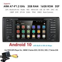 IPS DSP 2G + 16G אנדרואיד 9.0 רכב DVD GPS עבור BMW 5 סדרת E39 X5 E53 M5 7 סדרת E38 מולטימדיה נגן סטריאו רדיו automotivo bt