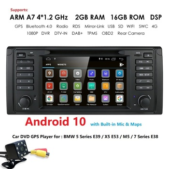IPS DSP 2G+16G Android 9.0 CAR DVD GPS For BMW 5 Series E39 X5 E53 M5 7 Series E38 multimedia player stereo radio automotivo bt image