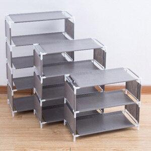 3/4/5 Layers Shoe Rack Assemble Shoes Shelf Simple Hallway Cabinet Organizer Holder Storage Solid Stand Shelves Shoe Home DIY