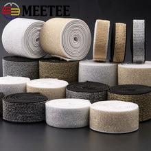 10m 15mm Gold Silver Nylon Webbings Fashion Elastic Band Ribbons Soft Belt Tension Rubber DIY Garment Craft