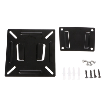 1Set New OOTDTY 12 - 24 Inch TV Monitor Flat Screen VESA 75/100 LCD LED TV Wall Mount Bracket Flat Panel TV Holder Stand Bracket image
