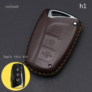 Image 4 - Coche accesorios, llave cubierta caso araba aksesuar para Hyundai IX45 Santa Fe (DM) 2013, 2014, 2015, 2016 3 botones clave Shell