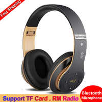 6S sans fil Bluetooth 4.2 Casque pliable Casque Audio Hifi stéréo basse Casque avec Microphone Support TF carte FM Radio