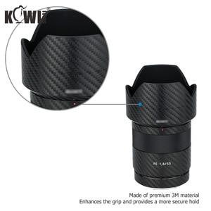 Image 4 - Lentille anti rayures et couvercle de pare soleil Film en Fiber de carbone pour Sony FE 55mm F1.8 ZA SEL55F18Z lentille et peau de ALC SH131 3M autocollant