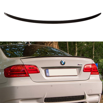 Fit For BMW E92 3 Series Spoiler 2005-2012 2 Door E92 M3 Performance Style Black Carbon Fiber Rear Wing Spoiler image