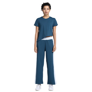 Image 3 - Damski luźny joga odzież garnitur odchudzanie ubrania do ćwiczeń sport Slim dwuczęściowy komplet garniturów sweter poliester, spandex Negroke