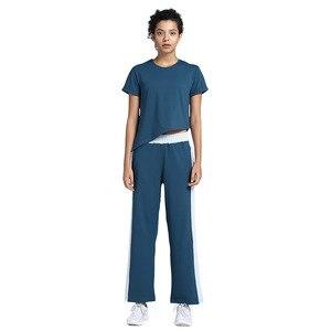 Image 3 - 女性のヨガの衣類のスーツ痩身ワークアウトの服スポーツスリムツーピーススーツセットプルオーバーポリエステル、スパンデックスnegroke
