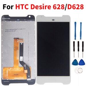 Image 1 - جودة Lcd ل HTC الرغبة 628/D628 شاشة الكريستال السائل مجموعة المحولات الرقمية لشاشة تعمل بلمس الهاتف المحمول استبدال ل HTC D628 LCD