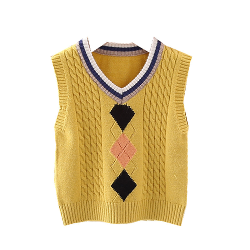 2020 Autumn winter new Toddler boy sweater vest rhombus pattern knitted  baby boys Vests warm soft kids sweaters infant clothes|Sweaters| -  AliExpress