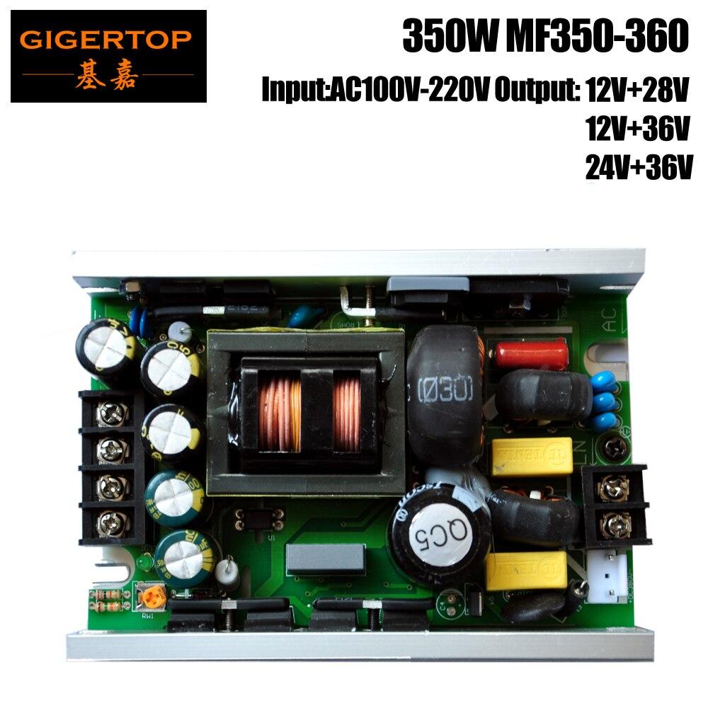 TIPTOP 350W Led Stage Lighting Power Supply MF350-360 Voltage Transformer 12V+28V 12V+36V 24V+36V Output Moving Head Light