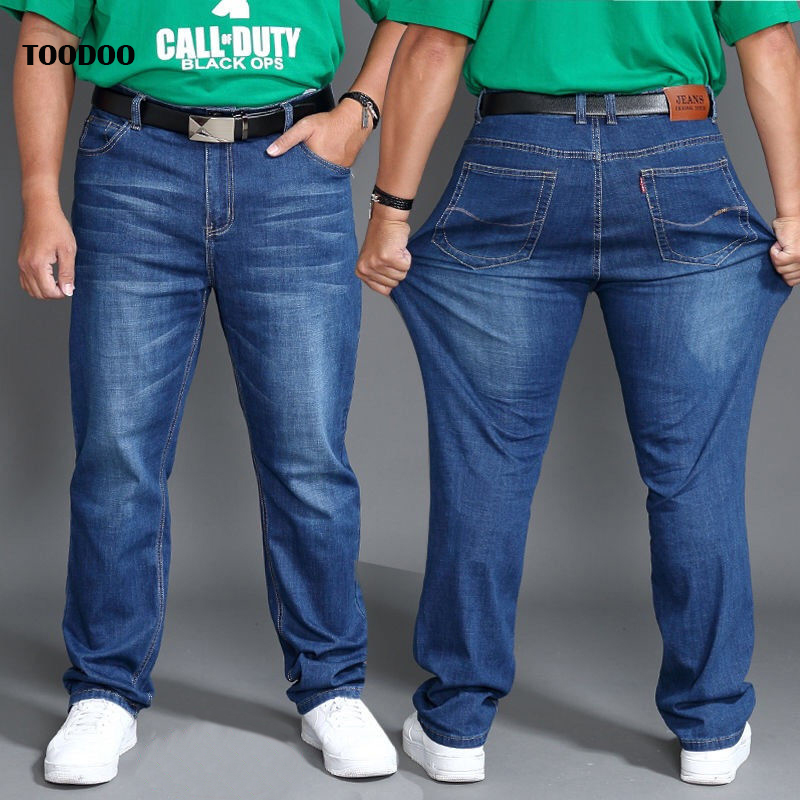 2020 Newest High Quality Oversize Men Jeans Strech Danim Fabric Top Selling Big Fat Waist Overweight Man Pants Family Size Jean