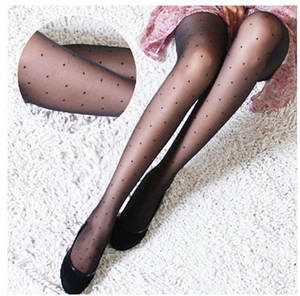 Tattoo Stockings Hosiery Pantyhose Women's Tights Silk Faux Polka-Dot Classic Small Female