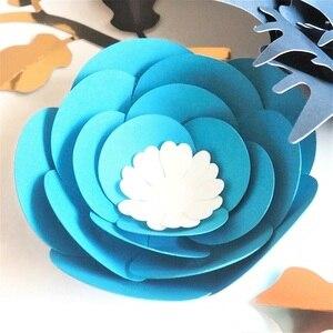 Image 4 - Ensemble de feuilles de fleurs en papier Rose