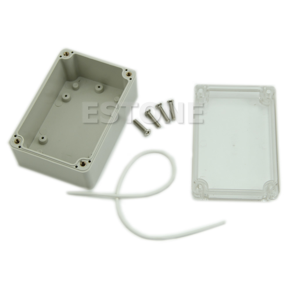 Plastic Waterproof Cover Clear Electronic Project Box Enclosure Case 100x68x50mm