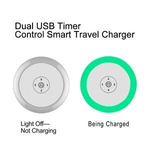 Image 2 - Voxlink 5V2. 4A LED Hẹn Giờ Điều Khiển Thông Minh Sạc Du Lịch Dual USB Cảm Ứng Sạc Cho Iphone Samsung Xiaomi Sạc Điện Thoại Di Động