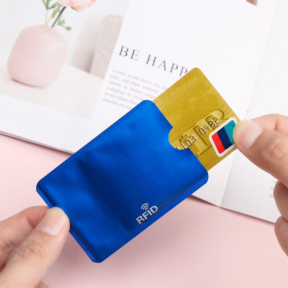 10X For RFID Secure Protect Blockings ID Credit Cards Sleeves Holder Case Skin//s
