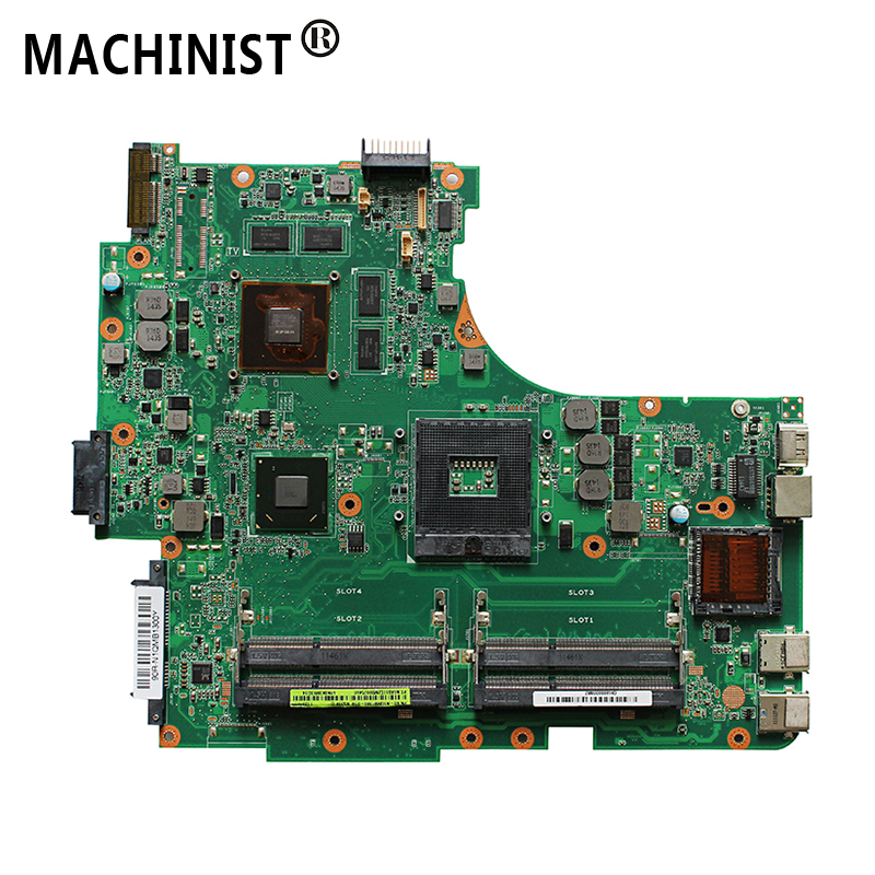 N53SV  laptop  motherboard For ASUS N53SN N53SM N53S N53SV REV 2.0 laptop motherboard HM65 PGA-989 GT540M 1GB DDR3 4 RAM USB 3.0
