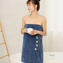 Embroidery Bath Towel for Women Absorbent Bath Robe Coral Fleece Thick Bath Towel serviette de bain toallas de ducha badhanddoek