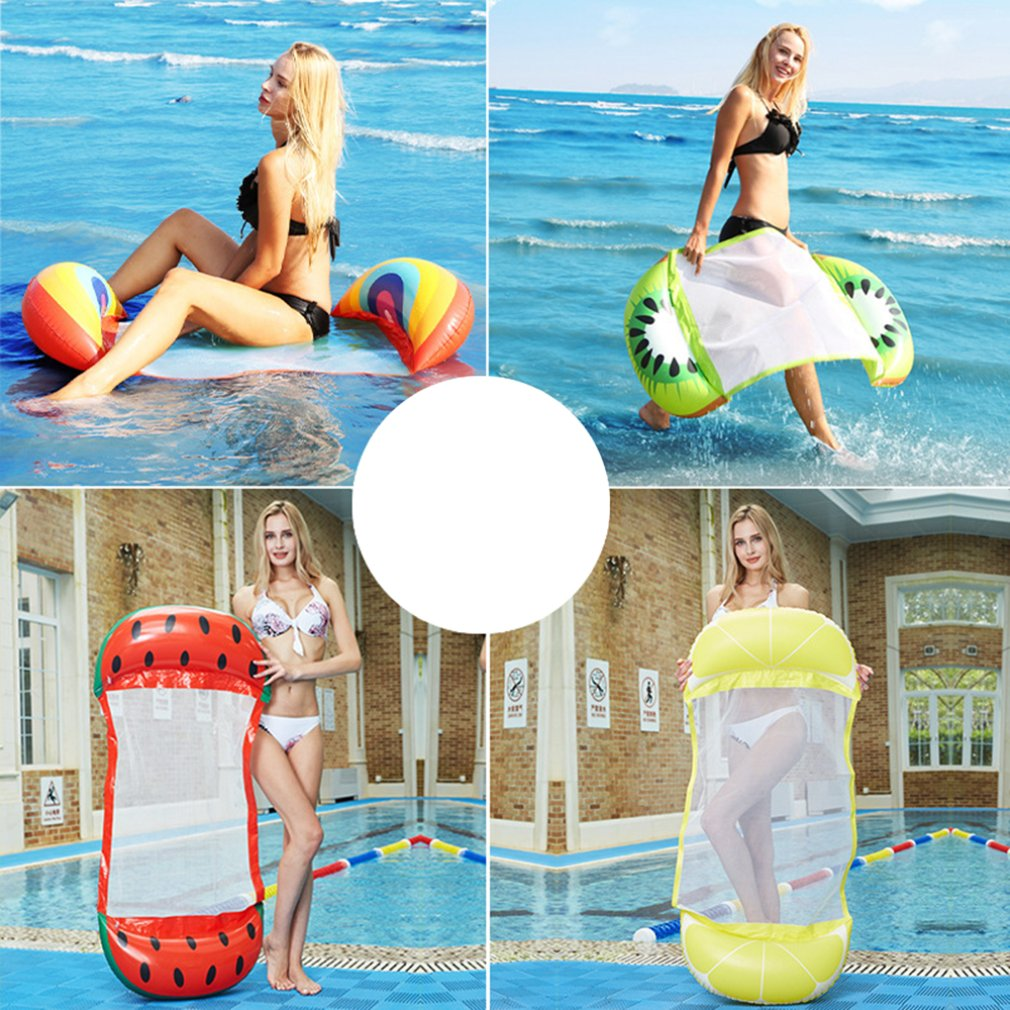 Inflatable Floating Fruit Type Floating Bed Recliner With Backrest Floating Row Hammock Adult Floating Row 130*73CM