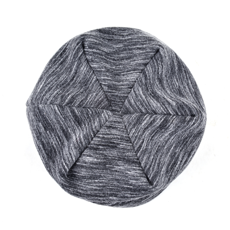 NUZADA Solid Color Winter Hats For Men Women Skullies Beanie Hedging Cap Knitted Caps Cotton Double