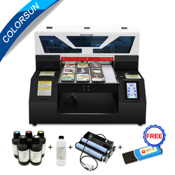 Colorsun automatic A3 UV flatbed printer with ink for Phone case metal glass bottle printing machine a3 UV printer L1800