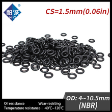 20PCS/lot Rubber Black NBR CS1.5mm OD4/4.5/5/5.5/6/6.5/7/7.5/8/8.5/9/9.5/10/10.5mm O Ring Gasket Oil resistant waterproof