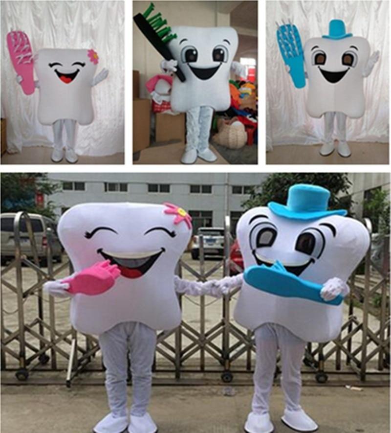 2019 publicité dent mascotte Costume docteur des dents soins dentaires personnage mascotte robe et parc d'attractions tenue éducation à la santé