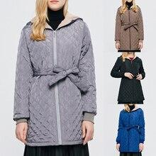 Sfit Женский Повседневный зимний теплый вельветовый джемпер с капюшоном из овечьей шерсти, куртка с капюшоном, верхняя одежда, пальто, теплое зимнее длинное пальто для женщин