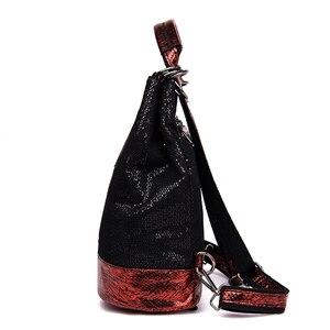 Image 2 - 2019 винтажный рюкзак для женщин, высококачественные кожаные рюкзаки, многофункциональная женская сумка на плечо, школьная сумка высокой емкости для девочек