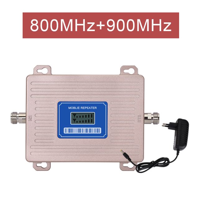 Europe Signal Booster LTE 800 GSM 900 mhz Cellular Signal Repeater 2G 3G 4G Dual band LTE Amplifier Band 20 Band 8 LCD Display@