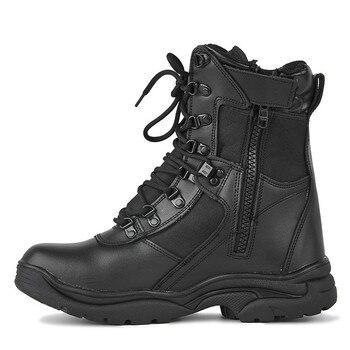 Spring Bots Breathable Hight-top Zipper Combat Boots Men  Tactical Desert Land Warfare Hiking Boots