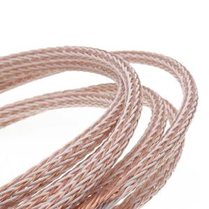 Image 5 - XSSH audio Hallo end DIY HIFI Silber Überzogene Y form spaten zu banana stecker 12TC 24 core lautsprecher kabel kabel Draht
