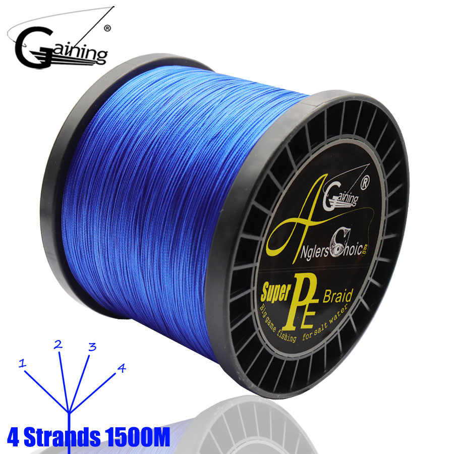 Braided Line 4 Strands 1500M Multifilament PE Line Fishing Braid Line 8-140LB Pesca Braided Wire