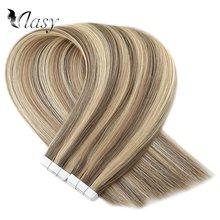 Vlasy 16 20 24 ريمي الشريط في وصلات شعر البيانو اللون مستقيم ضعف الانتباه الجلد لحمة لاصق ملحقات