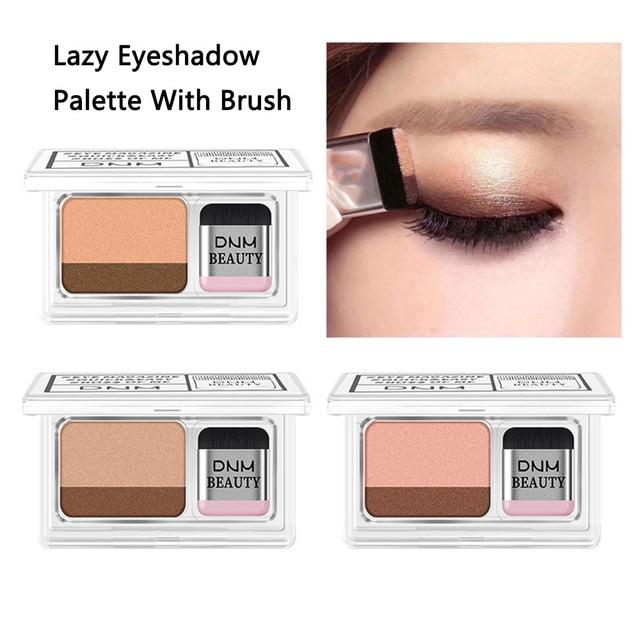 Double Color Gradient Lazy Eye Shadow Makeup Palette Glitter Waterproof Glitter Eyeshadow 4