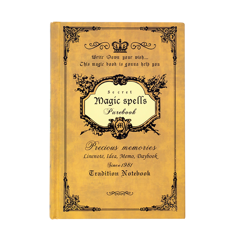 Vintage Notebook Handcover Magic Spells Pockets Book Planner Journal Traveler Notepad