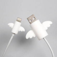 Cover Protector Wire-Organizer Earphone-Cable Bite-Holder Micro-Usb Cartoon Winder Cute