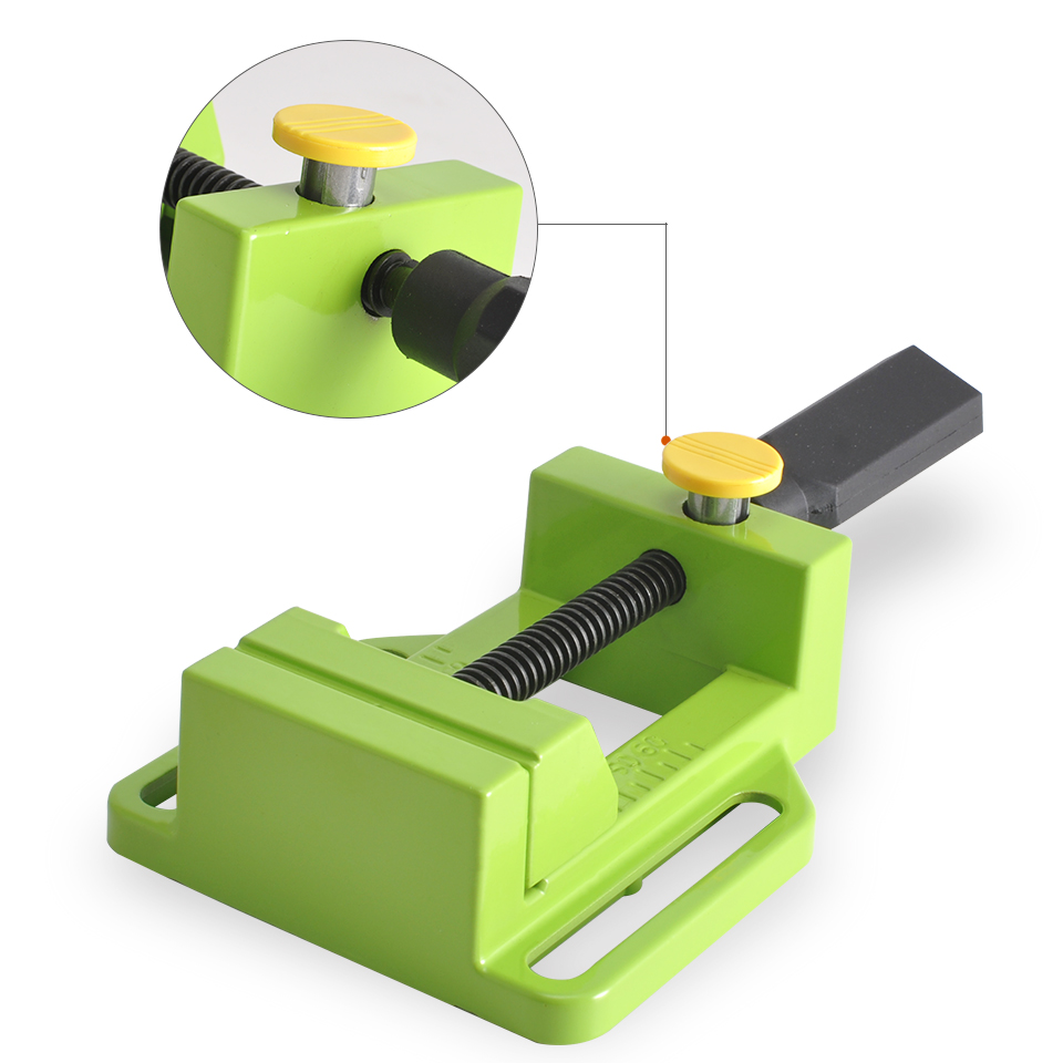 Aluminum Alloy Flat Vise For Electric Drill Stand Tongs Mini Home Use Flat Tongs Bench Vise