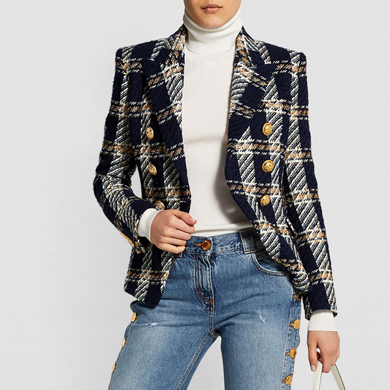 Womens Double Breasted Blazer