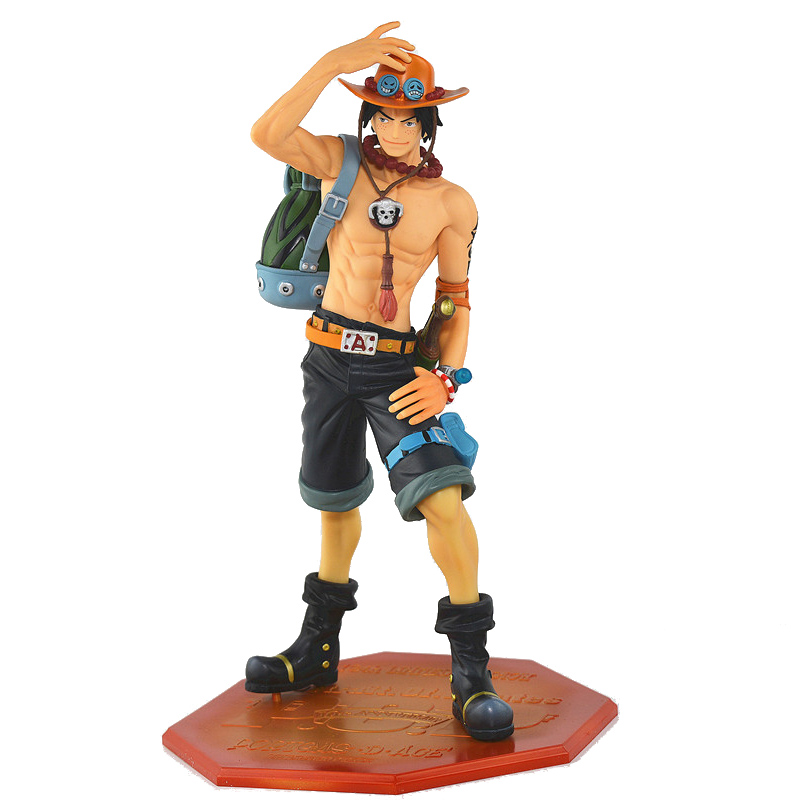 Anime One Piece POP DX Fire ACE Portgas D Ace 10th Anniversary Special Edition PVC Action Figure One Piece Collectible Model Toy